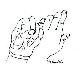 "dibujo ""amigandome"" de Gabriela Manfredi"
